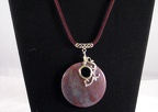 Large Indian Agate Pendant on Velour