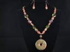 Moss and Salmon Unakite - 18""