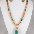 Orange and green agate