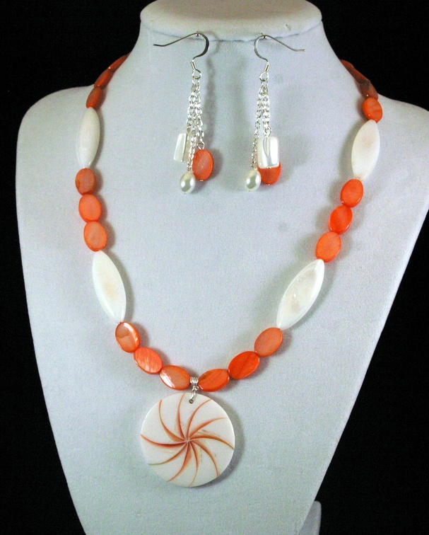 Shells in Orange and White