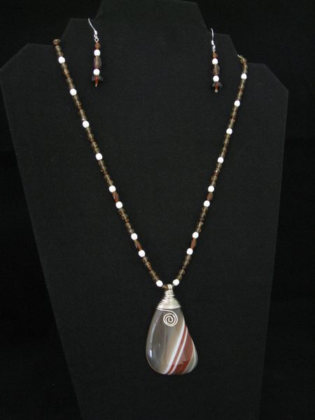 Brown & White Agate