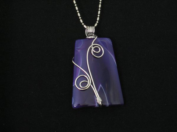 Wire Wrapped Purple Onyx Agate - Blue Tones.JPG